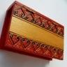 Cutiuta pentru bijuterii rosie cu glitter