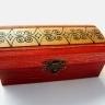Cutiuta pentru bijuterii rosie cu contur negru