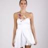 White Pleats Mini Dress