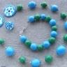 Set verde-bleu